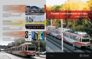 Proposed Transit Investments for Calgary - Calgary Transit