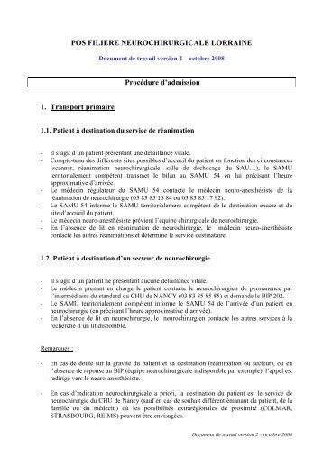 POS Neurochirurgicale Lorraine - COLMU