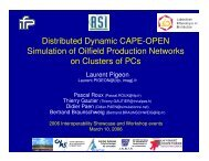 Distributed CAPE-OPEN Simulation of Oilfield Production ... - CO-LaN