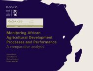Monitoring African Agricultural Development Processes ... - ReSAKSS