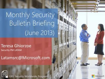 Monthly Security Bulletin Briefing - TechNet Blogs