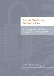 Security Effectiveness Framework Study