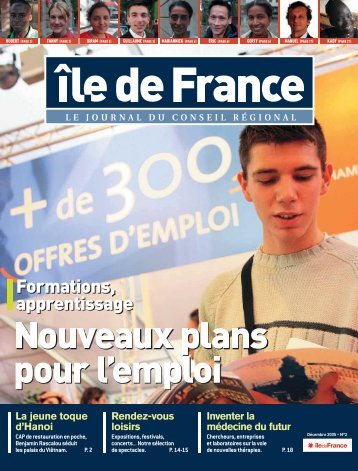 Formations, apprentissage - Ile-de-France