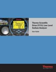 Thermo Scientific Orion 2111LL Low Level Sodium Analyzer