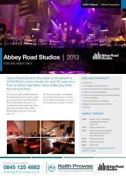 Abbey Road Studios | 2013 - Keith Prowse