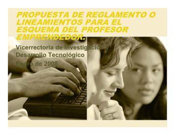 propuesta de reglamento o lineamientos para el esquema del ...