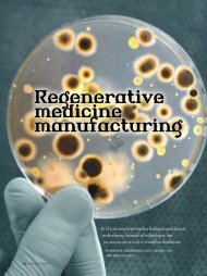 Regenerative medicine manufacturing - Industrial and Systems ...