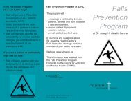 Falls Prevention Program - St. Joseph's Health Centre Toronto