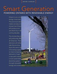 Smart Generation: Powering Ontario with Renewable Energy