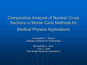 Comparative Analysis of Nuclear Cross Sections in Monte Carlo ...