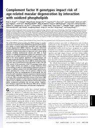 Complement factor H genotypes impact risk of age-related macular ...