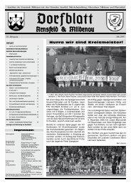 Dorfblatt Juli 2007 - Gemeinde Mildenau