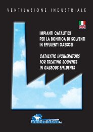 impianti catalitici per la bonifica di solventi in effluenti gassosi ...