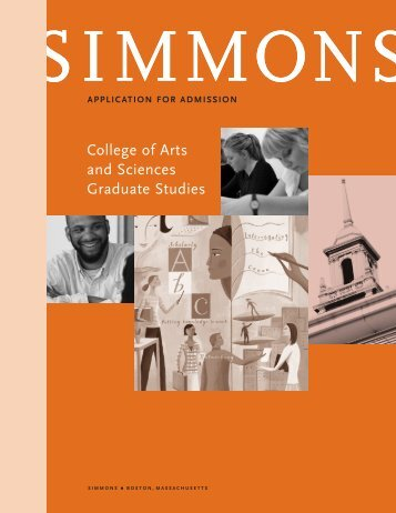 College of Arts and Sciences Graduate Studies - Simmons College
