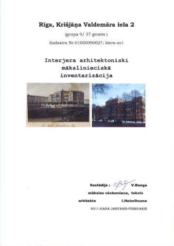 Rīga, Krišjāņa Valdemāra iela 2