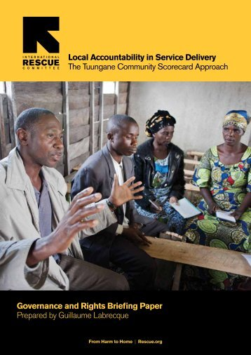 IRC Briefing Paper - Local Accountability in Service Delivery