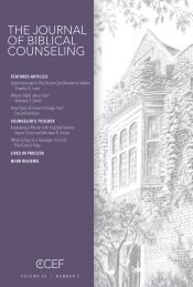 THE JOURNAL OF BIBLICAL COUNSELING - CCEF