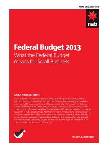 What the 2013 Federal Budget means for small business - NAB