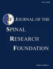 Click to Read the Fall 2008 Journal - Spinal Research Foundation
