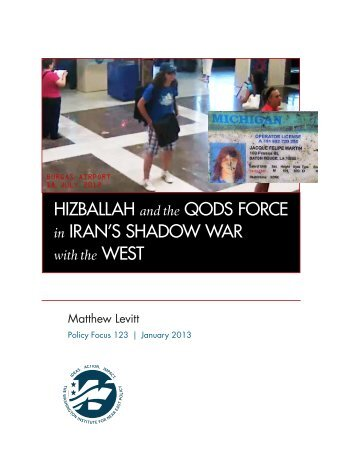 HIZBALLAH and the QODS FORCE in IRAN'S SHADOW WAR