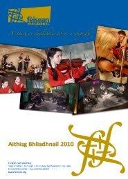 Aithisg Bhliadhnail 2010 - Fèisean nan Gàidheal