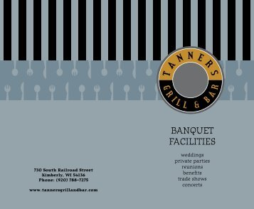 Banquet Menu - Tanners Grill and Bar