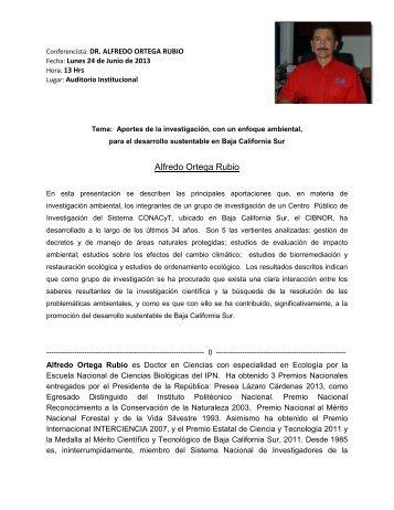 Alfredo Ortega Rubio - Cicese