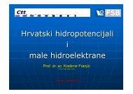 Hrvatski hidropotencijali i male hidroelektrane - FESB