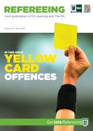 RefeReeing offenCeS - The Football Association