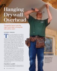 Hanging Drywall Overhead - Fine Homebuilding