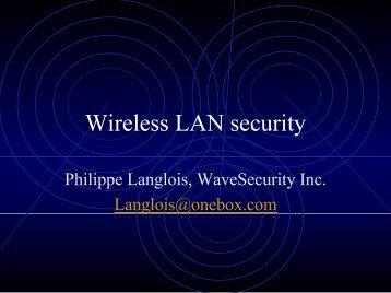 Wireless LAN security - OSSIR