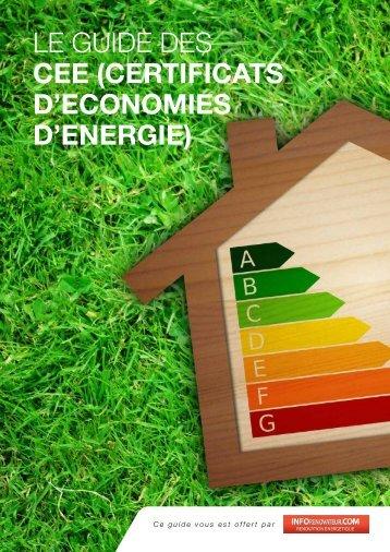 certificats d'economies d'energie - Infodiagnostiqueur