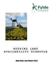 Housing Land Availability Schedule 2013 - Fylde Borough Council