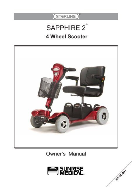 Sterling Sapphire 2 User Manual - Indy Mobility