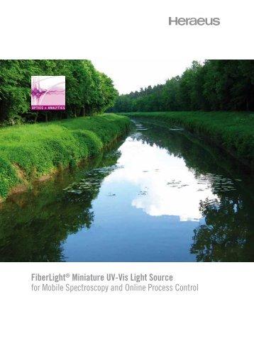 FiberLight® Miniature UV-Vis Light Source for ... - Heraeus Noblelight