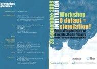 Workshop 0 défaut = simulation! INVITATIO N - Réseau plasturgie