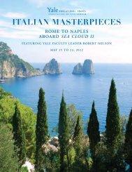 italian masterpieces rome to naples aboard sea ... - Yale University