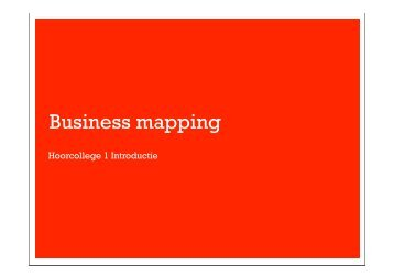 Business mapping - Intranet