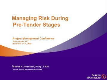Managing Risks - Department of Public Works and Services