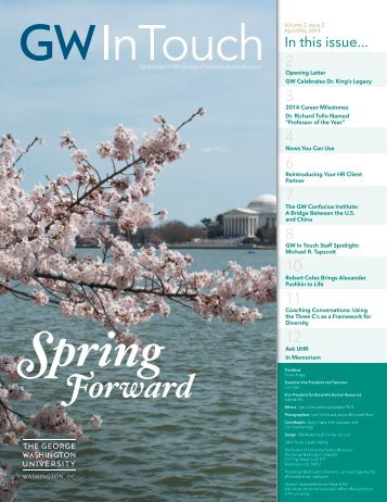 GW In Touch Spring Forward April-May 2014