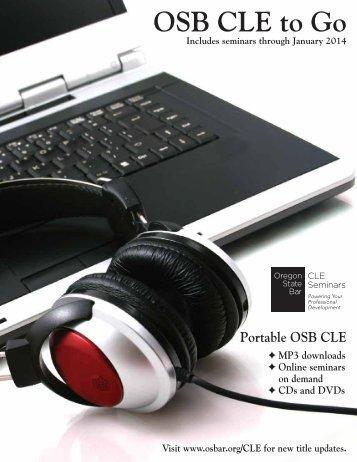 Download - Oregon State Bar CLE Seminars