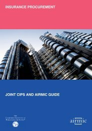 JOINT CIPS AND AIRMIC GUIDE INSURANCE PROCUREMENT