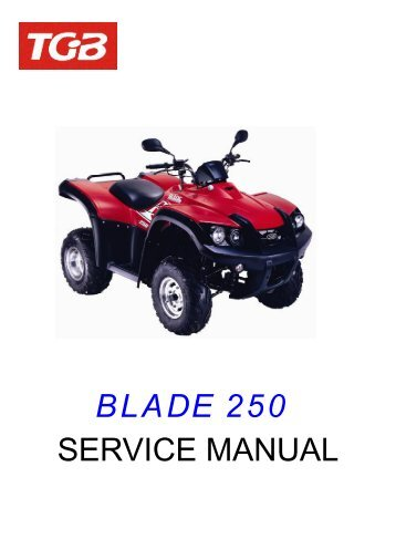 BLADE 250 SERVICE MANUAL - Cobra Scooters, LLC