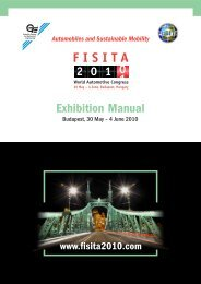 Exhibition Manual - FISITA 2010 World Automotive Congress
