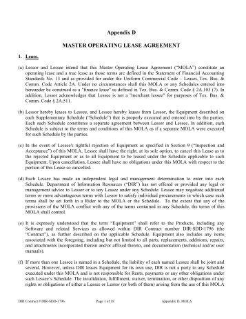 Master Lease Agreement V  UsdPdf  Envirotainer