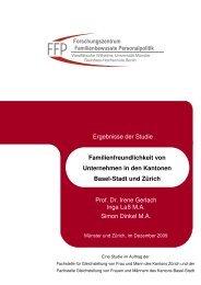 Familienfreundlichkeit von Unternehmen in den Kantonen Basel ...