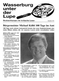 Lupe, September 2002, Bürgermeister Michael ... - SPD-Wasserburg