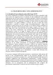 LA TRASPARENZA DELL'ATTO AMMINISTRATIVO 1. La disciplina ...