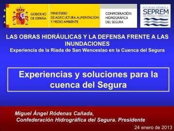 cabecera ríos de la cuenca del segura - Confederación Hidrográfica ...