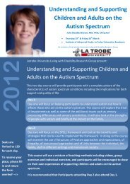 Understanding and Supporting Children and Adults on the Autism ...